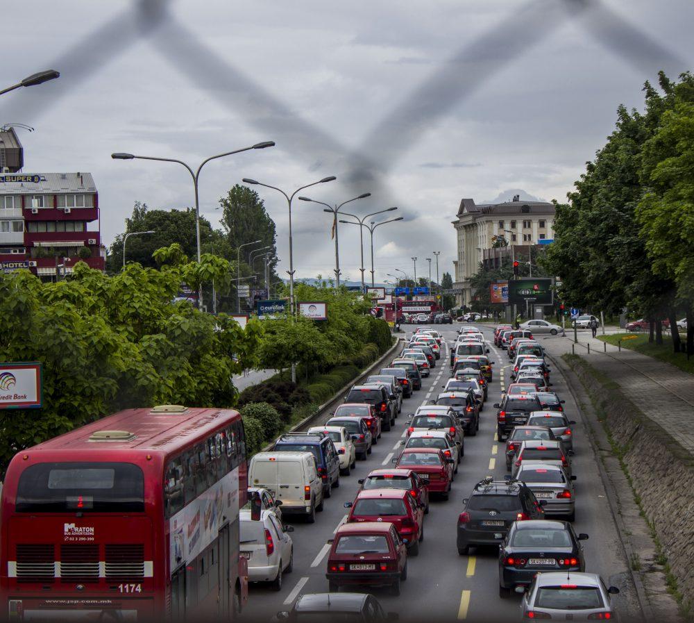 Skopje rainy day